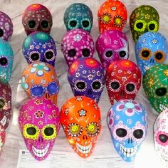 Day of the Dead Mexican skulls Smiling after the long trip to Australia