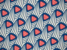 Recreated pattern from a swatch of vintage fabric found in a Goodwill shop, by Daniel Matarazzo.