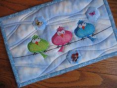 Mug rug birds  Creative gal#Repin By:Pinterest++ for iPad#