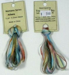 Athens  Hand Dyed 35mm Silk Ribbon  5 yard by GoldenThreadSupplies, $5.00