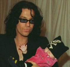 Michael Hutchence and Tiger Lily