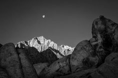Moon Setting Over Lone Pine Peak - #Alabama Hills . One of my favorite places to visit off #highway395 and it will be my first free wallpaper I will give out in my monthly email newsletter which is rolling out this coming Monday 6/19. . Be sure to sign up today to get it. Visit http://ift.tt/2sGIneV or the link int the profile to sign up!