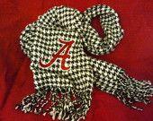 Houndstooth Alabama Crimson Tide Embroidered Scarf. $15.00, via Etsy.