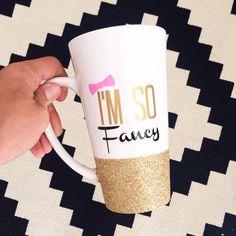 CHRISTMAS - Personalized Coffee cup // Glitter Dipped by TwinkleTwinkleLilJar