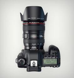 http://dribbble.com/shots/626218-3d-Canon-5d-MKII-camera-top-view