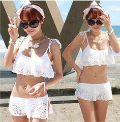2016 New summer style Strappy Bikinis Lace bikini Sexy Swimwear Moda Praia Biquinis Costumi Da Bagno Donna Maillot De Bain Fille $13.3