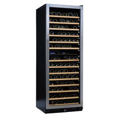 Wine Enthusiast N'finity PRO LX 187-Bottle 26 in. Dual Zone Wine Cellar, Stainless Steel Trim