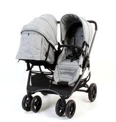 Valco Baby Snap Ultra Duo Tailor Made - Charcoal Car Seat And Stroller, Jogging Stroller, Pram Stroller, Baby Car Seats, Travel Stroller, Double Stroller For Twins, Double Baby Strollers, Best Double Stroller, Best Double Pram