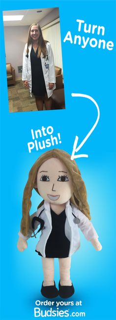 Turn your loved ones into a plush doll. Super simple to order and less expensive than an American Girl doll ;) Get yours for just $79 at Budsies.com