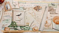 Wallpaper border York 10.5 in Nautical maps Ships 5+ rolls Cream Green WC4138B #YORK