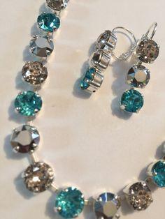 Swarovski Jewelry Set by AllGlittersJewelry2 on Etsy