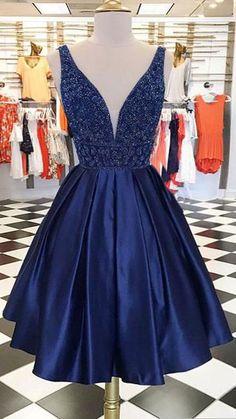 deep v neck royal blue prom dresses, beaded prom dresses for women