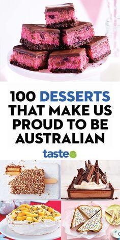 Australian Desserts, Australian Food, Australian Recipes, Baking Recipes, Cake Recipes, Dessert Recipes, Delicious Deserts, Yummy Food, Lithuanian Recipes