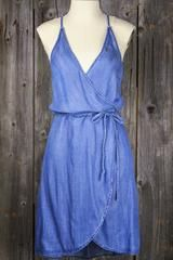 Sleeveless Racerback Tencel Wrap Shirtdress – Sugarcloth