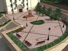 Курсовая работа Проект малоэтожной гостиницы класса звезды  Госзаказ Проект благоустройства участка памятника Микаилю Мушвигу 3д модель выполнена мною на заказ