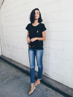 Hamanda Pinheiro: T-shirt + Calça Jeans - Look Dia a Dia