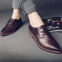 Para mujer de la mujer ata para arriba Slip on del dedo del pie puntiagudo Oxford zapatos planos(China (Mainland))