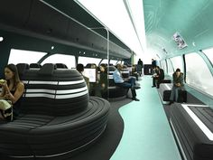 Futuristic Interior of an AWESOME high-speed rail system<3 by Australian firm Hassel