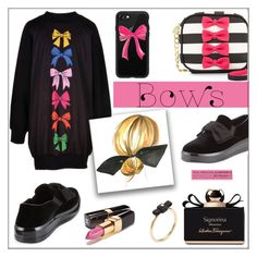"""""""Put a Bow on It!"""" by pat912 ❤ liked on Polyvore featuring Prada Sport, Betsey Johnson, Casetify, Marc by Marc Jacobs, Salvatore Ferragamo, Chanel, bows and polyvoreeditorial"""