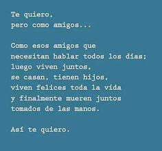 Yo #tequiero así como #amigos... #4lunas #pensamiento #reflexión #sentimientos #pareja #amor #vida #thoughts #couple #feelings #mood #love #life