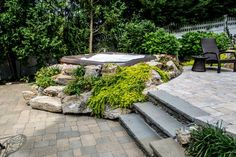 landscaping for hot tubs - Google Search