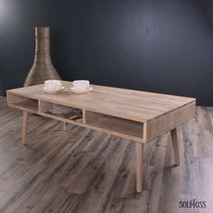 Sofabord i massiv eg med 3 rum - Made in Denmark - By Tika Denmark, Dining Table, By, How To Make, Furniture, Design, Home Decor, Products, Decoration Home