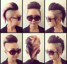 Wow lots of punky undercuts