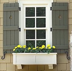 Decorative Outdoor Shutters with Cutouts | why people like shutters house shutters ideas are popular because they ...
