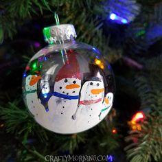 Handprint Snowman Ornament Keepsake