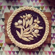 ideas fruit cake design pie crusts for 2019 Beautiful Pie Crusts, Pie Crust Designs, Fruit Cake Design, Pie Decoration, Pies Art, Pie Crust Recipes, Sweet Pie, Fruit Tart, No Bake Pies