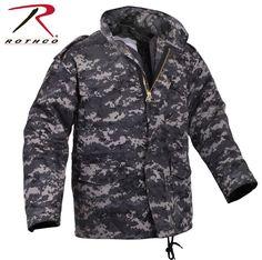 Mens Subdued Urban Digital Camo M-65 Field Jacket - Rothco Cotton Mil-Spec Coat