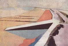 bluecote:  the shore, 1923 paul  nash