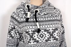 Hoodies - Damen Hoodie Jacquard Jersey Norweger - ein Designerstück von Ursels-Lieblingsmode bei DaWanda