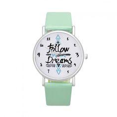 4875fd10bf2 Dámské hodinky s nápisem v ciferníku zelené- 30 % SLEVA + POŠTOVNÉ ZDARMA  Na tento