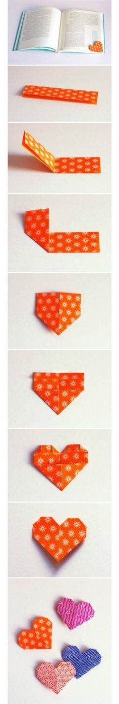 Heart shaped easy to make bookmark