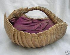 Victorian Armadillo egg basket