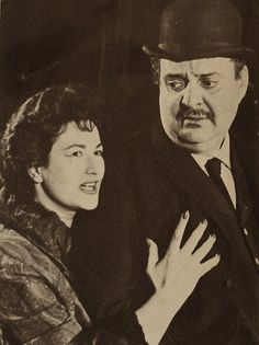 1958  Bea Arthur (Maude, Golden Girls) and Zero Mostel