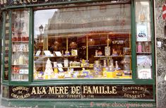 Paris's oldest sweet shop, A la mere de famille, founded in 1761 and still operating in its original location.