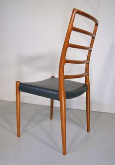 Moller #82 set of 4 teak dining chairs. www.midcenturyhome.co.uk