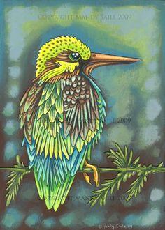 Beautiful Bird 9 PRINT by BijousWhimsy on Etsy