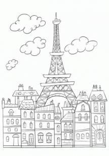 Загадки про города и страны с ответами-раскрасками