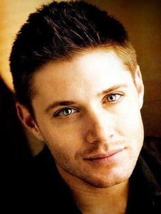 Jensen has the best green eyes, Misha has the best blue eyes, and Jared...I have no idea what color his eyes are.