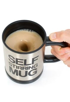 Self Stirring Mug // Get out!!! This is so awesome #product_design