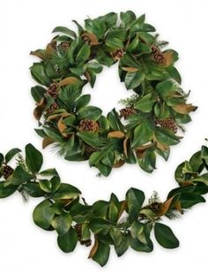 beautiful-faux-magnolia-leaf-wreath-and-garland-balsam-hill-this-looks-so-realistic-i-am-completely-in-love.jpg (287×378)