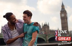 Love is Great LGBT visit Britain campaign