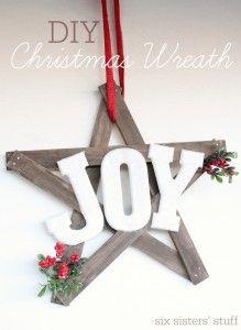 DIY-Christmas-Joy-Wreath