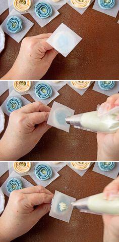 How to Make Fun Buttercream Ribbon Roses | The Bearfoot Baker Cake | Buttercream Cupcake | Sweet Treats | Dessert | Summer Cupcake | Ribbon Roses | Buttercream Flowers | The Bearfoot Baker