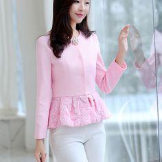 2017 Spring Women Slim Blazer Coat  New Fashion Casual Jacket Long Sleeve Suit Ladies Blazers Work Wear