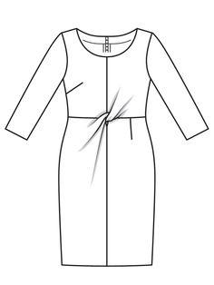 Платье-футляр - выкройка № 111 из журнала 3/2017 Burda – выкройки платьев на Burdastyle.ru