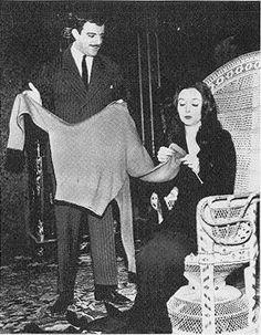 knitting Morticia for Gomez...